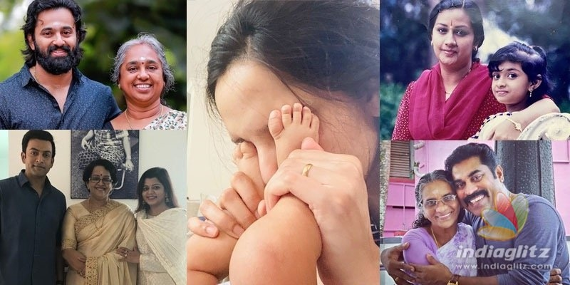 See pics: Mollywood stars with their mothers