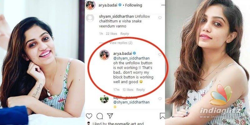 the poisonous snake is back? Bigg Boss actress gives a fitting reply to a criticiser!