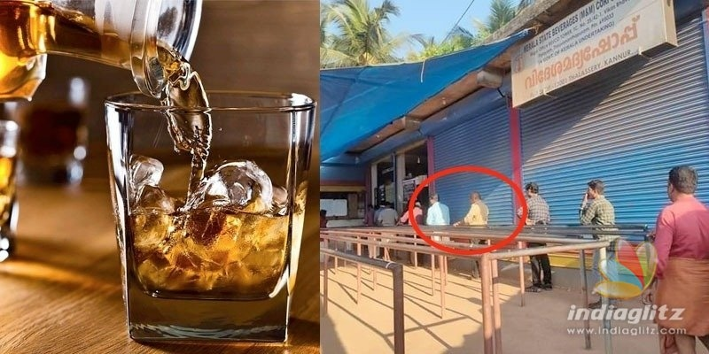 VIRAL: Kerala liquor buyers follow one-meter distance queue!