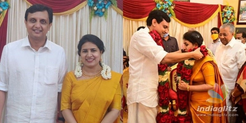 Inside pics: Kerala CM Pinarayi Vijayans daughter enters wedlock