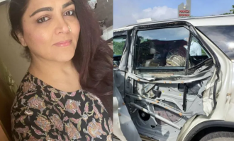 Actress Khushboo met with a car accident