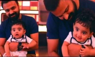 Little Izza enjoys watching 'Anjaam Pathiraa' CUTE