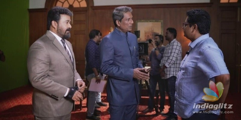 Mohanlal gives a sneak peek from the sets of Ram