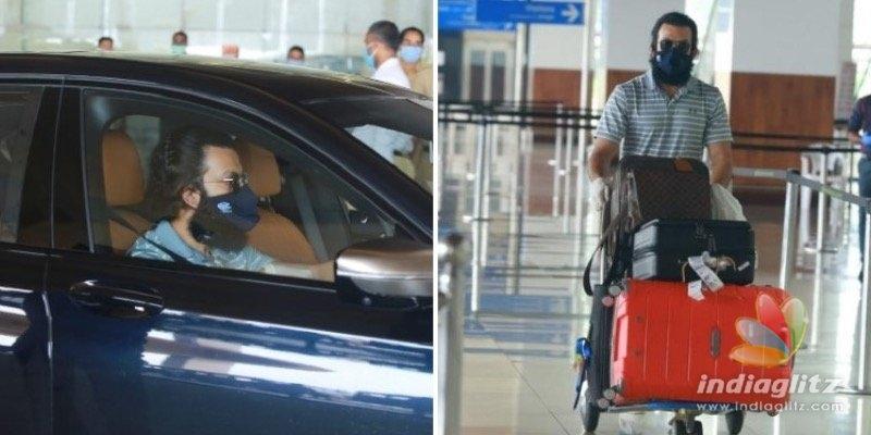 WATCH: Prithviraj reaches Kochi, drives car!