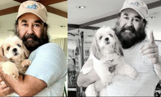 Mohanlal's new pictures with 'bailey' go viral