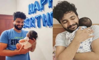 In pics: Neeraj Madhav celebrates his first birthday as father