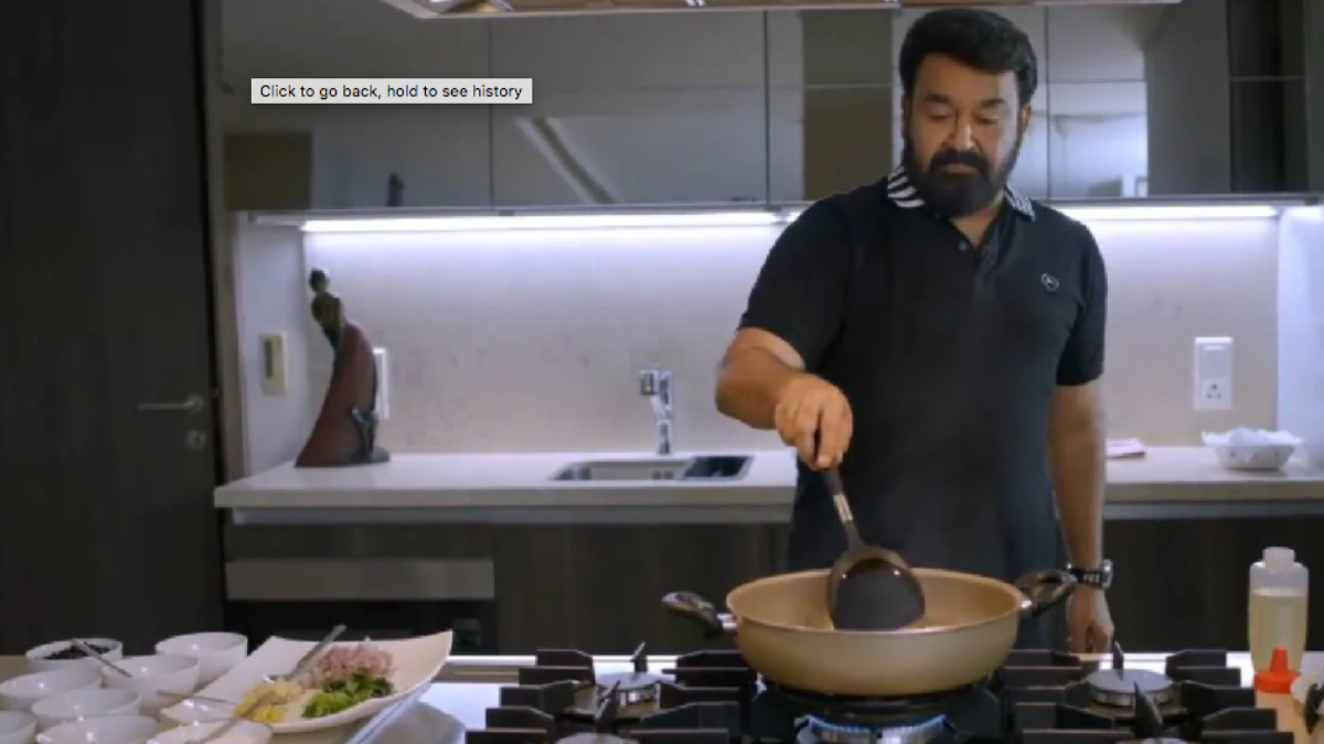 WATCH:  Mohanlal turns into a chef again; Shares special chicken recipe