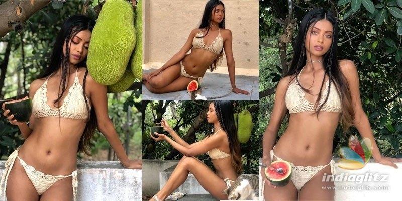 Dulquers heroine dons bikini on terrace, pics go viral!