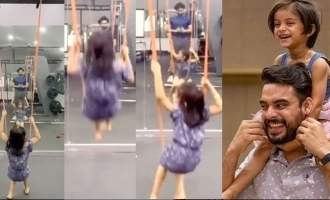 Tovino's gym is now a playground for daughter!