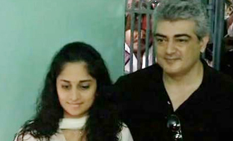 Thala Ajith registers vote with his Mother and wife Shalini