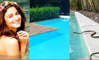 Snake found in actress Alia Bhatt's swimming pool