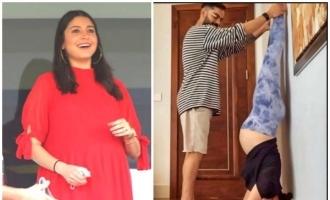 Viral pic: Pregnant Anushka Sharma performs Shirshana with Virat Kohli's help
