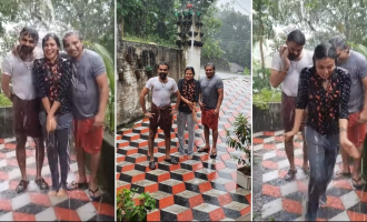 WATCH: Actress Anusree enjoys rain like a little kid