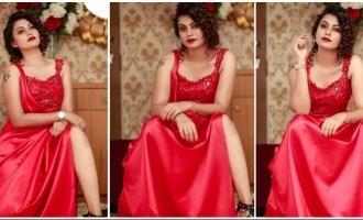 Actress Anusree looks ravishing in hot red!