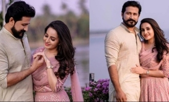 Bhama gets engaged to Arun, photos VIRAL