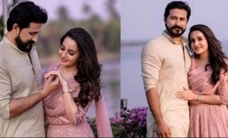 Bhama gets engaged to Arun, photos VIRAL
