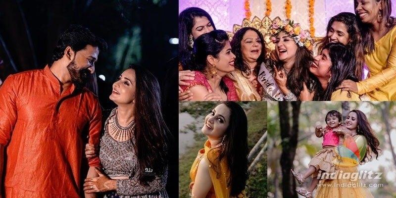 Pic Talk - Actress Bhamas Mehendhi ceremony