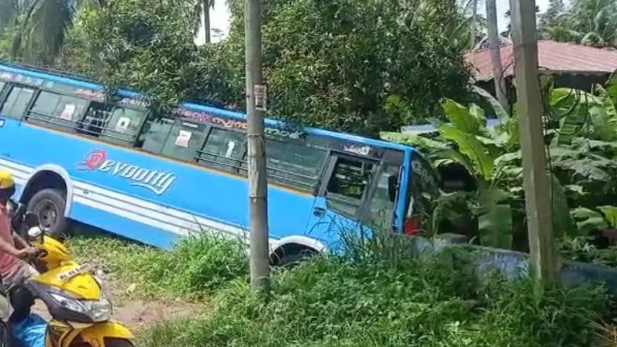 Bus overturns as driver suffers a seizure