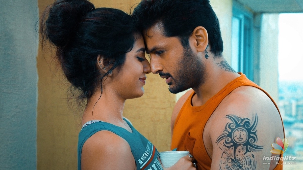 Watch: Priya Varrier falls down while filming a romantic scene