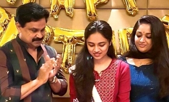 Dileep and Kavya host a grand birthday party for daughter Meenakshi