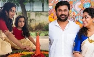 Fans go crazy over Dileep's daughters' Onam celebration