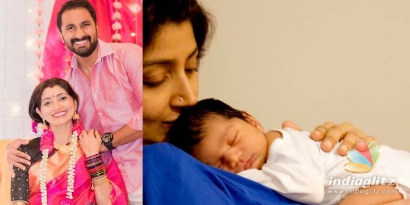 Divya Unni and Arun blessed with a baby girl