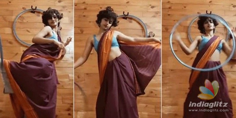 Watch: This young girls hoop dance in saree awes netizens!