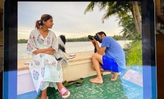 When Nazriya turned model for Fahadh Faasil