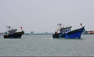 Two fishing boats meet with accident