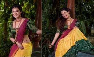 Actress Honey Rose looks ethereal in half saree photoshoot