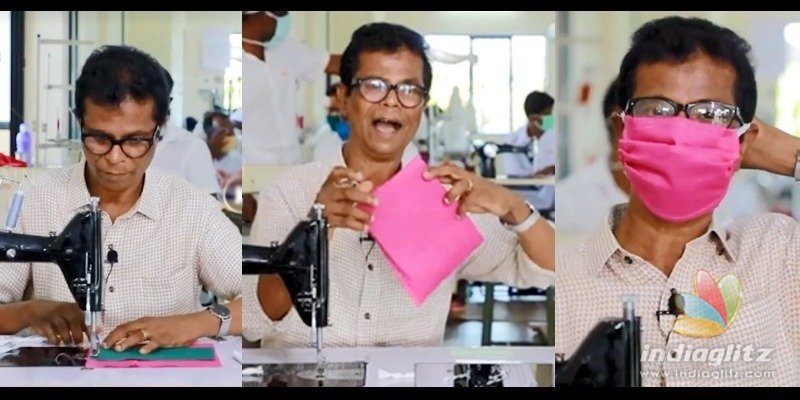 VIRAL VIDEO: Popular Malayalam actor explains how to stitch a face mask at home