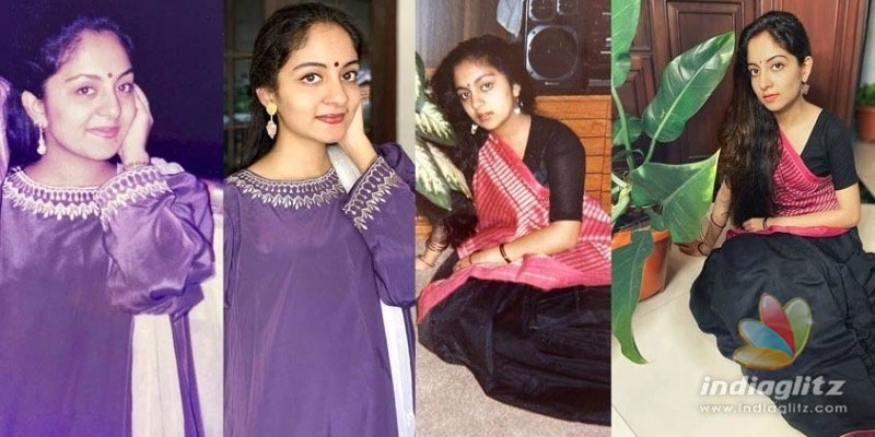 Ishaani looks a photocopy of her mother;  Recreated pictures go VIRAL!