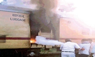 Kerala: Moving train catches major fire