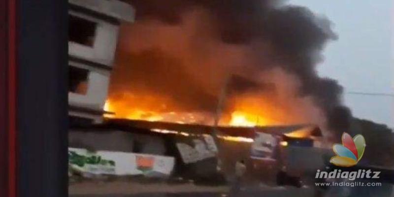 Massive fire breaks out in Kerala