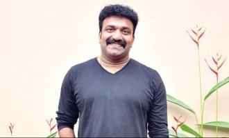 Actor Kottayam Nazeer sketches the poster of Jayasurya's 'Eesho'