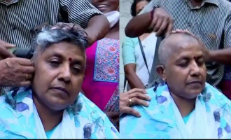 Kerala elections: Lathika Subhash gets head tonsured in protest
