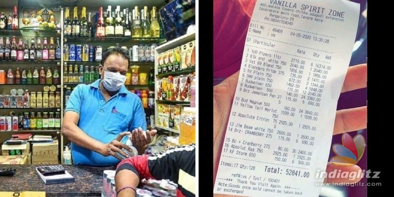 Liquor bill exceeding Rs 50k went viral, seller booked!