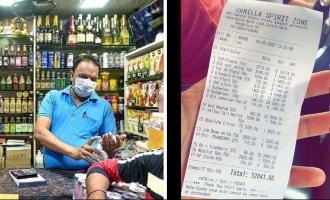 Liquor bill exceeding Rs 50k goes viral, seller booked!