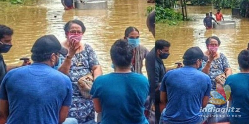 Prithvirajs mother Mallika Sukumaran rescued from flood again!