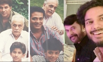 Three generations in one frame; Mammootty and Dulquer's rare pics!