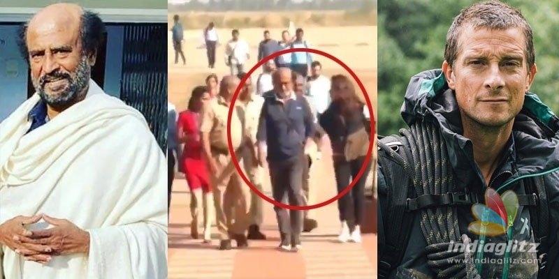 Superstar Rajinikanth shoots for Man Vs Wild