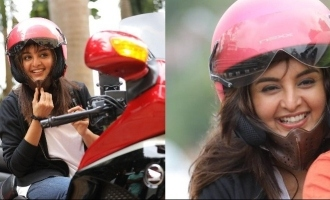 Watch: Manju Warrier rides a bike through Kochi city