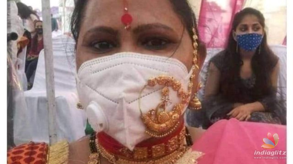 Woman wears nose ring hoop over face mask, pics go viral!