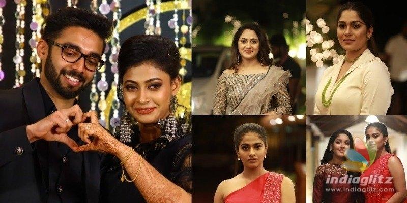 Celebrities at Parvathy Nambiars wedding reception