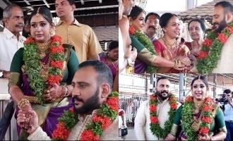 Sowbhagya Venkitesh ties the knot with Arjun Somashekharan