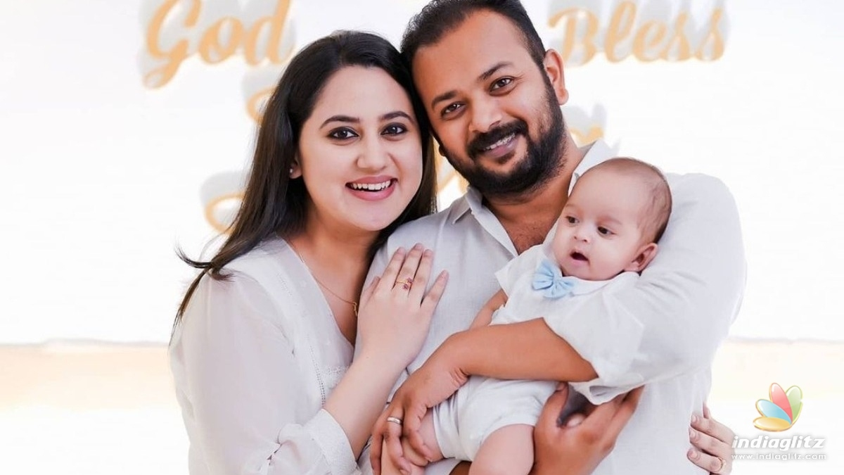 Actress Miya George shares pictures of her babys baptism ceremony