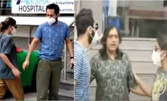 Nazriya and Fahadh visit Meghana Raj and baby at hospital