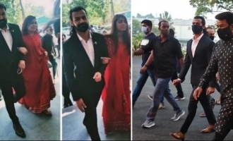 Viral: Mohanlal and family steal the show at Antony Perumbavoor's daughter's wedding