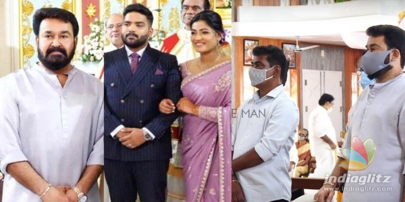 Pics of Mohanlal attending Antony Perumbavoors daughters engagement go viral