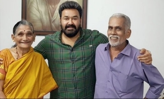 Mohanlal meets the popular tea-seller couple